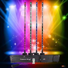 Chauvet DJ Rechargable LED Freedom Stick Event 4 Pack Inc Bag & IRC-6 *Graded*