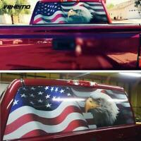 For Truck Jeep SUV Rear Window Graphic Tint Decal Sticker American Flag Eagle