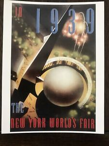 POSTCARD 1939-40 NEW YORK WORLD'S FAIR TRYLON AND PERISPHERE