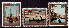 CHAD 1972 USED SET # C127/29, UNESCO CAMPAIGN TO SAVE VENICE !!