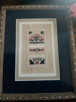 """Pat Rogers'~Counted Collection """"queen of hearts"""" Counted Cross Stitch Sampler"""