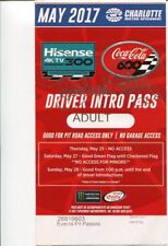 Richard Petty NASCAR HOF Driver Signed Autograph RARE Coca Cola 600 Ticket