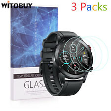 For Honor Magic Watch 2 46mm Ver 9H Tempered Glass Screen Protector 3 Packs