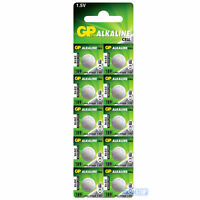 10 x LR54 GP 1.5V Alkaline Button Cell Watch Battery 189, G10A, RW89, L1131, 390