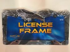 Chrome Metal Eagle Car Truck License Plate Tag Frame Holder