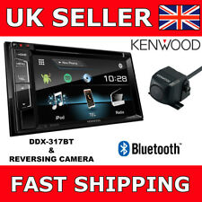 """Kenwood DDX-317BT Car CD DVD Double Din Bluetooth 6.2"""" Screen + Reverse Camera"""