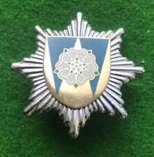ORIGINAL WEST YORKSHIRE FIRE SERVICE CAP BADGE. USED.