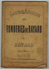 1911 - Album Fonderie de  Bayard - Société Anonyme - Bayard - Haute-Marne
