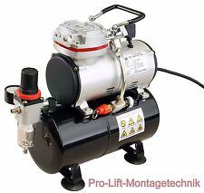 Airbrush 1Zyl Kolben- Kompressor AS-189 Druckminderer usw. 3Liter Lufttank 01768