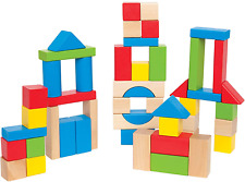Maple Wood Kids Building Blocks Stacking Wooden Block Educational Toy Set For To