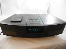 Bose Wave Radio Awr1-1W Works Tested W/ Remote Black Alarm Clock