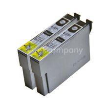 2 kompatible Tintenpatronen schwarz für Drucker Epson SX440W S22 SX425W