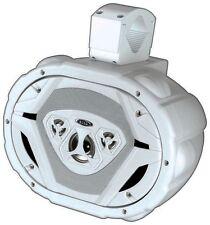 """Boss Audio MRWT69W Marine 6X9"""" 4-Way Wake Tower Speaker White"""