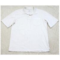 Puritan White Pocket Polo Shirt Short Sleeve Men's Man's 3-Button Medium 38-40
