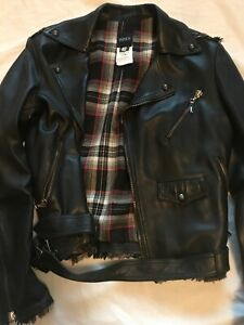 versus versace Mens Leather Biker
