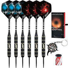 Professional Steel tip Darts 22g+Aluminum shafts+Sharpener+Dart Tool+12 Flights