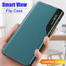 Pour Samsung Galaxy A51 A71 A21S A50 A40 A30 Étui Mince En Cuir Smart View Case