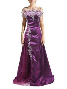 Robe de soirée longue, violet, cérémonie, cocktail, mariage, organza T 34-48