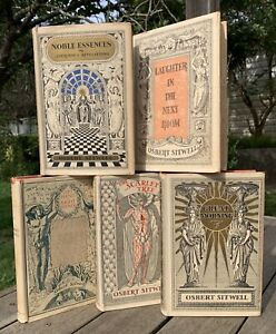 Osbert Sitwell Complete 5 Volume Autobiograghy 2 First Editions Antique Book Set