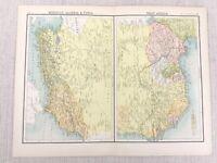 1898 Map of West Africa Morocco Algeria Tunis Bartholomew Antique Original