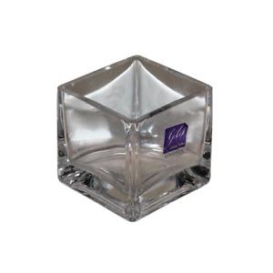 7cm Square Modern Glass Vase, Great for Home, Restaurants, Cafes