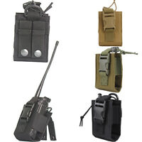 Tactical Military Molle Radio Pouch Walkie Talkie Holster Holder Open Top Bag