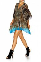 new CAMILLA FRANKS SILK SWAROVSKI RAPTUROUS LACE UP KAFTAN TOP layby avail