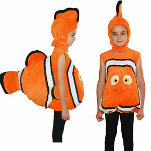Kids Girl Boy Fish Animal Costume Clownfish Cute Cuddly Baby Toddler Fancy Dress