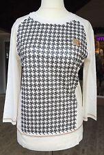 Sportalm Shirt, offwhite, Rick Castle, Hamptons Delight, Gr 36 Hahnentritt long