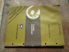 John Deere OM-RG16146 Issue B6 400 Series Engines Operators Manual