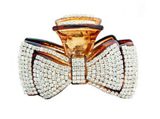 Double Ribbon Fancy Good Quality Rhinestones Claw Clip Jaw Clips