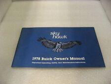 Buick 1978 Skyhawk - Owner's Manual