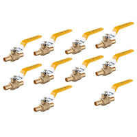 "10 PCS 1/2"" PEX FULL PORT SHUT OFF  BALL VALVE , NO LEAD BRASS UPC CERTIFIED"