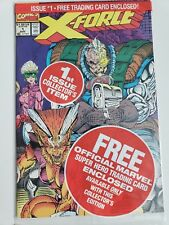 X-FORCE #1 (1991) MARVEL COMICS POLYBAGGED WITH CABLE TRADING CARD! ROB LIEFELD