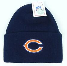 CHICAGO BEARS NFL FOOTBALL VTG NAVY KNIT CUFFED BEANIE WINTER CAP HAT NEW!