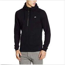 Nike Sportswear Modern Half Zip Hoodie Black White 805132-010 Men's Size XXL