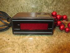 Retro Vintage Cosmo Time LED digital Alarm Clock E529B Rare Miniature Clock