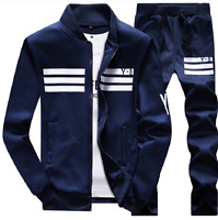 Mens Varsity Sweatshirt+Pants Track Baseball Jacket Coats Sweat Suits Sportswear