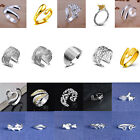 20Types Ladies 925 Silver Plated Adjustable Open Band Thumb Rings Statement Gift