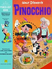 Vintage Reprint - 1962 - Pinocchio - A Giant Golden Punch-Out Book