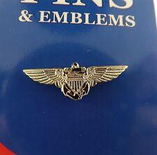 "BRAND NEW Lapel Pin USN USMC Aviator Wings 1 1/8"""