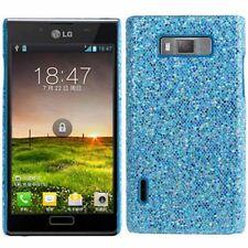 HardCase Glitzer Style für LG P700 / P705 Optimus L7 hellblau Case Hülle Etui