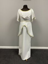 Ex hire fancy dress costume - White Ladies Greek Dress- Size 10 - Roman/Greek