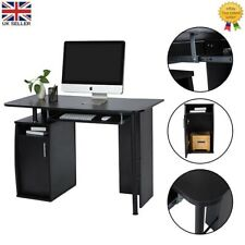 Computer Desk Writing Study PC Table Home Office with Drawer Cabinet Workstation