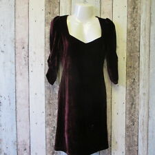 Ladies TG Velvet Dress, Plum size 8 (1822217 12) *