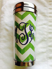 New Monogrammed Embroidery Tumbler Hot/Cold 16oz Personalized Gift Photo Mug
