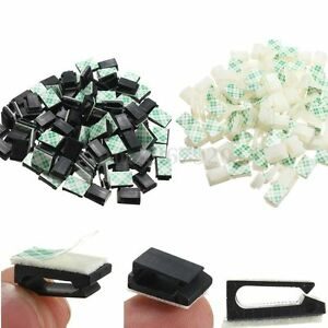 30/50/100x Kabelhalter Kabelbinder Clip Kabelklemme Kabelschelle Selbstklebend C