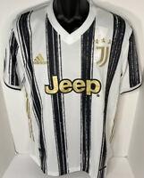 Adidas Juventus 20/21 Authentic Home Soccer Jersey Men's Medium Jeep NWT HEAT RD