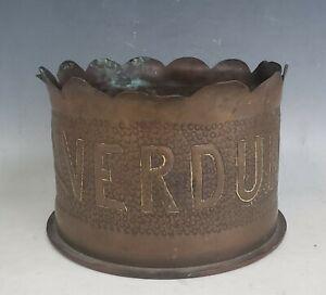 WWI Verdun AEF Trench Art Shell Casing