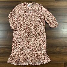 CAbi Women's Size Medium Animal Print Sienna Casual Boho Tie Waist Dress 5406